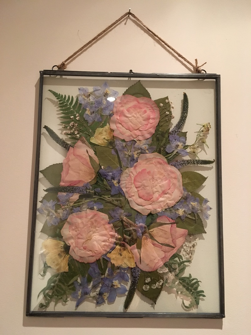 3d Pressed Framed Bouquet Options